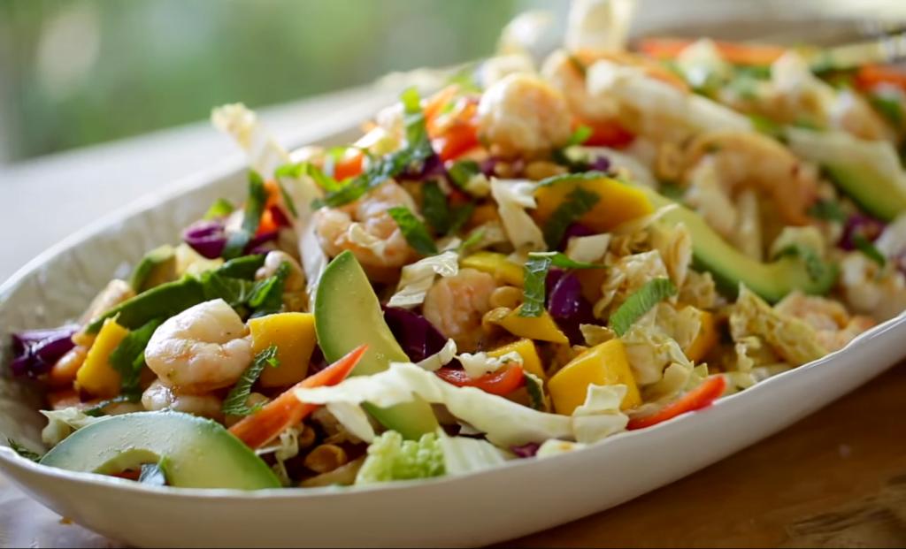 Garnalen salade met avocado en mango recept-zensitivity.nl-salade voor de barbecue