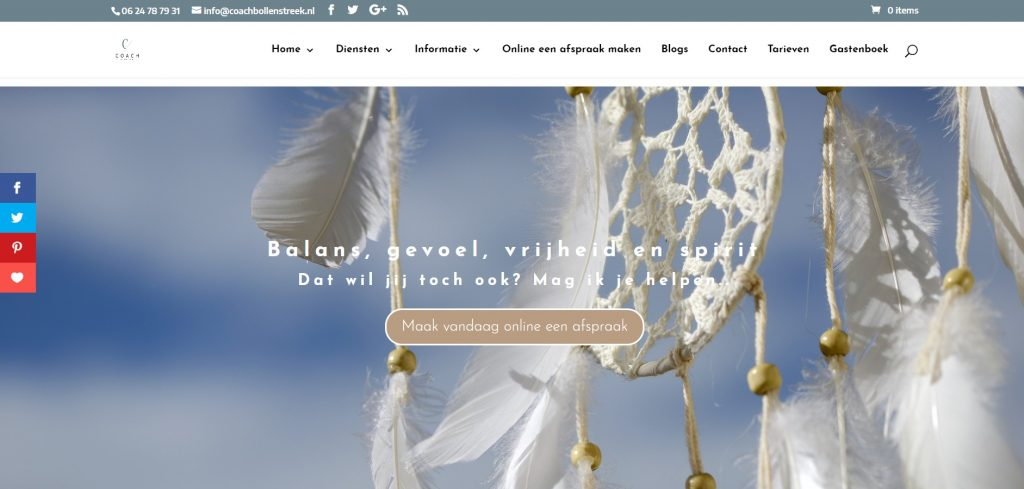 Website Porfolio Coach Bollenstreek