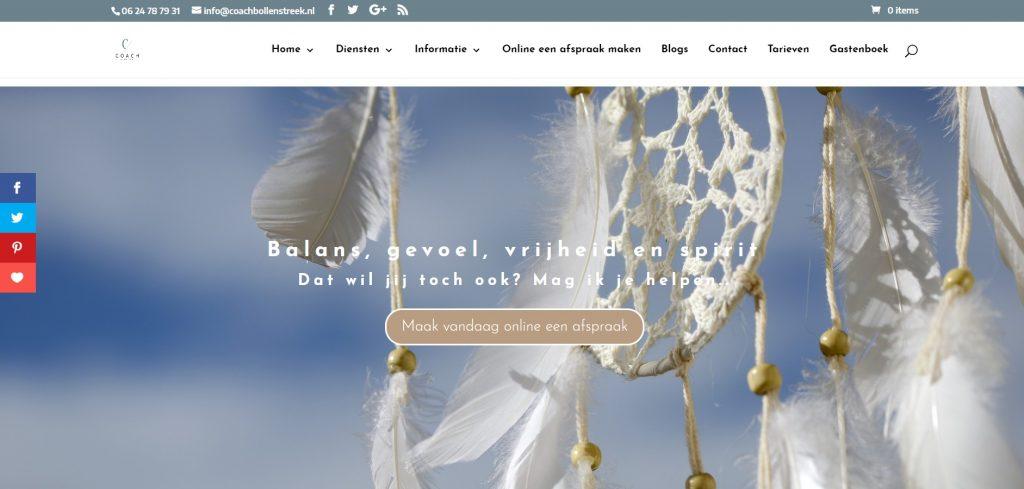 Website Porfolio Coach Bollenstreek